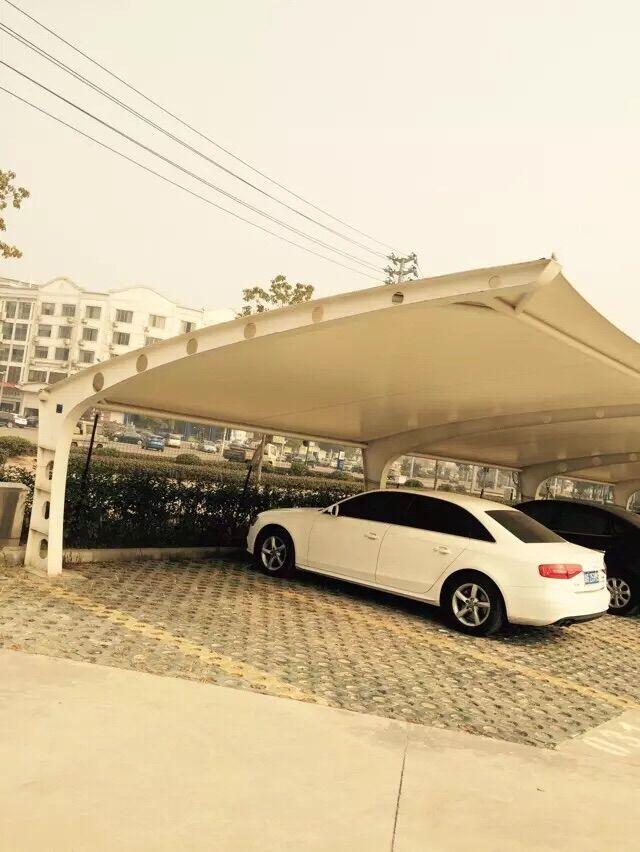义乌宝雅服装厂7字—oH型停车棚 - 停车棚