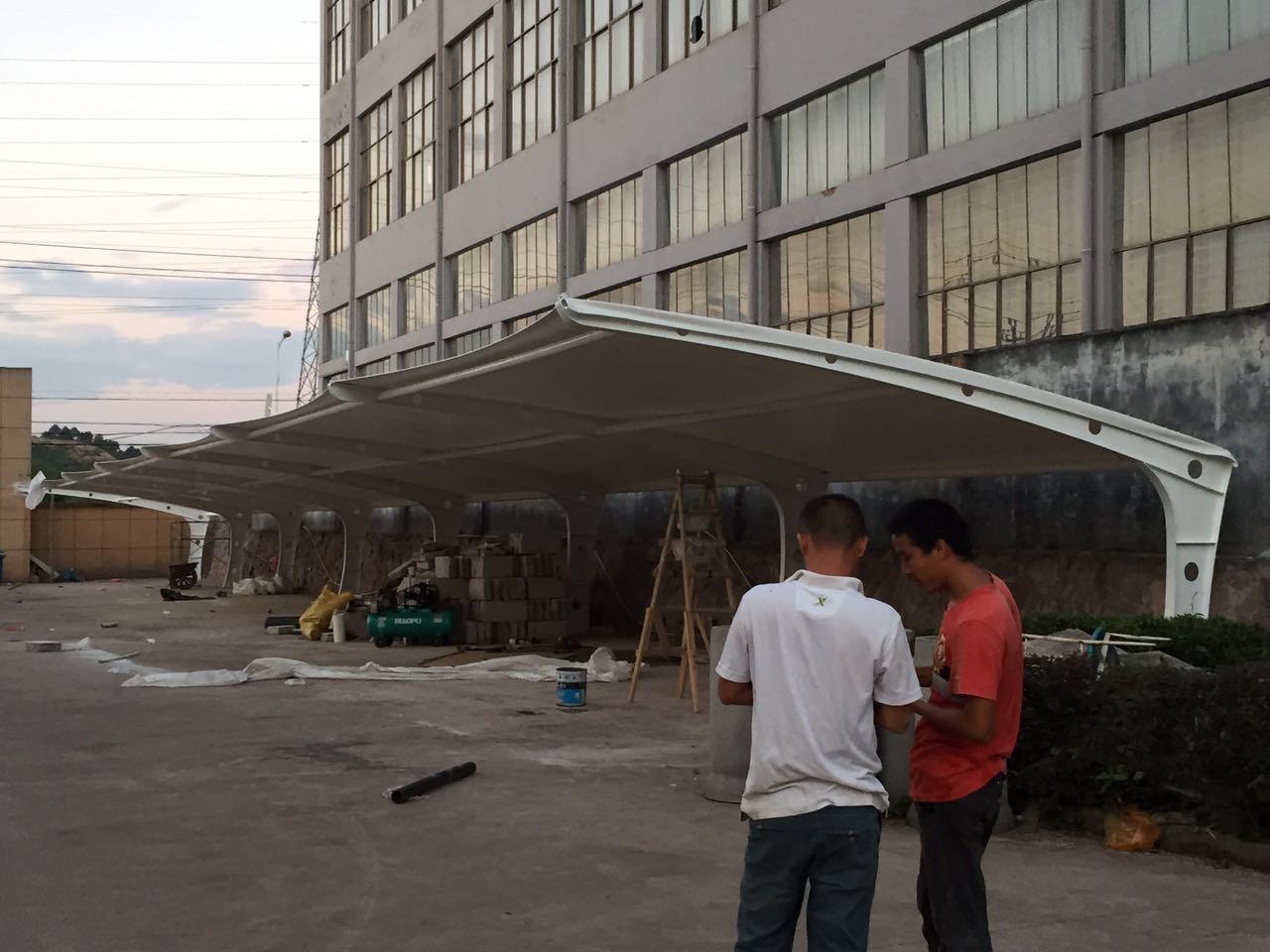 武义县东达电器有限公司七子型汽车停车棚